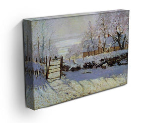 The Magpie by Monet Canvas Print & Poster - Canvas Art Rocks - 3