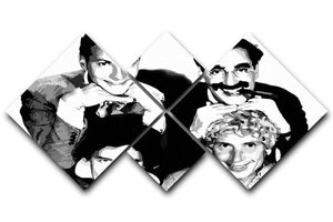 The Marx Brothers 4 Square Multi Panel Canvas  - Canvas Art Rocks - 1