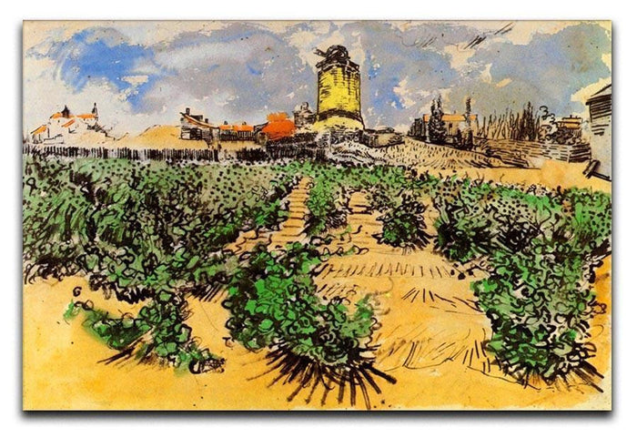 The Mill of Alphonse Daudet at Fontevielle by Van Gogh Canvas Print or Poster