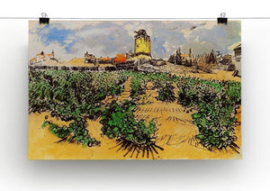 The Mill of Alphonse Daudet at Fontevielle by Van Gogh Canvas Print & Poster - Canvas Art Rocks - 2