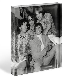 The Monkees sitting Acrylic Block - Canvas Art Rocks - 1