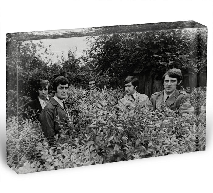 The Moody Blues in a field Acrylic Block