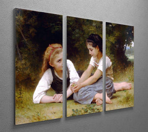The Nut Gatherers By Bouguereau 3 Split Panel Canvas Print - Canvas Art Rocks - 2