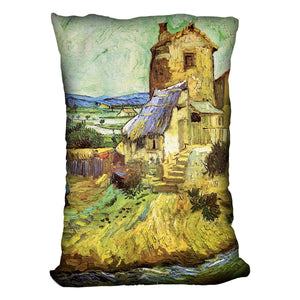 The Old Mill by Van Gogh Throw Pillow