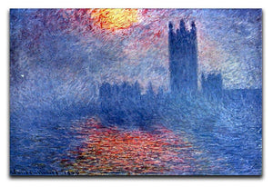 The Parlaiment in London by Monet Canvas Print & Poster  - Canvas Art Rocks - 1