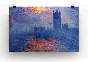The Parlaiment in London by Monet Canvas Print & Poster - Canvas Art Rocks - 2