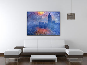 The Parlaiment in London by Monet Canvas Print & Poster - Canvas Art Rocks - 4