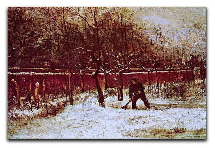 The Parsonage Garden at Nuenen in the Snow by Van Gogh Canvas Print or Poster