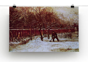 The Parsonage Garden at Nuenen in the Snow by Van Gogh Canvas Print & Poster - Canvas Art Rocks - 2