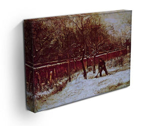 The Parsonage Garden at Nuenen in the Snow by Van Gogh Canvas Print & Poster - Canvas Art Rocks - 3