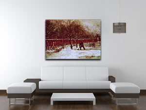 The Parsonage Garden at Nuenen in the Snow by Van Gogh Canvas Print & Poster - Canvas Art Rocks - 4