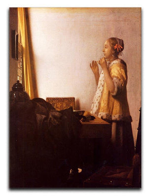 The Pearl Necklace by Vermeer Canvas Print or Poster - Canvas Art Rocks - 1