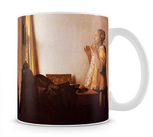 The Pearl Necklace by Vermeer Mug - Canvas Art Rocks - 1