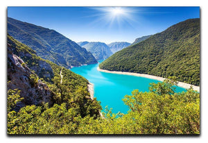 The Piva Canyon Canvas Print or Poster  - Canvas Art Rocks - 1