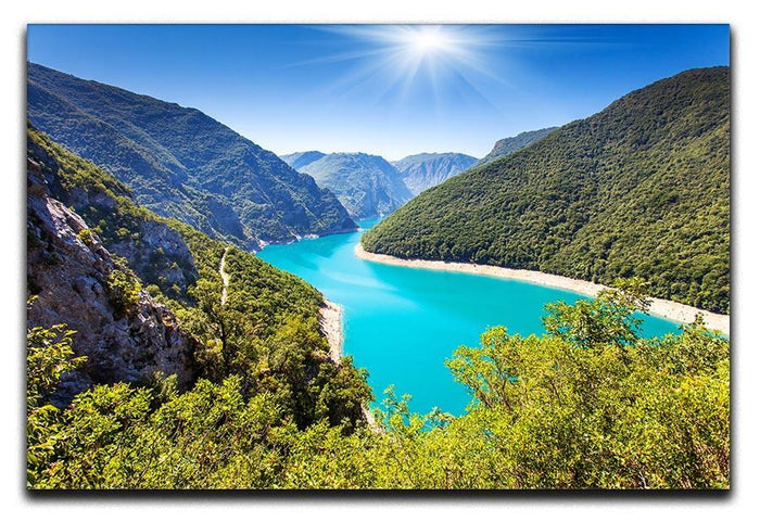 The Piva Canyon Canvas Print or Poster