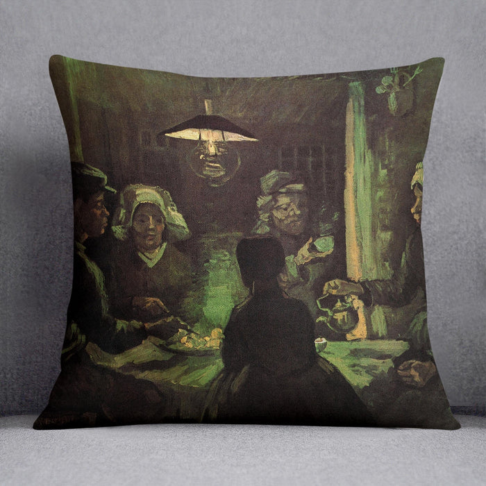 The Potato Eaters by Van Gogh Throw Pillow
