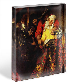 The Procuress by Vermeer Acrylic Block - Canvas Art Rocks - 1