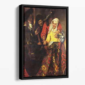 The Procuress by Vermeer Floating Framed Canvas