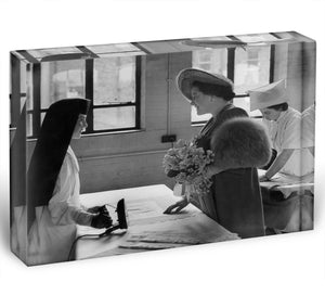 The Queen Mother at a training college Acrylic Block - Canvas Art Rocks - 1