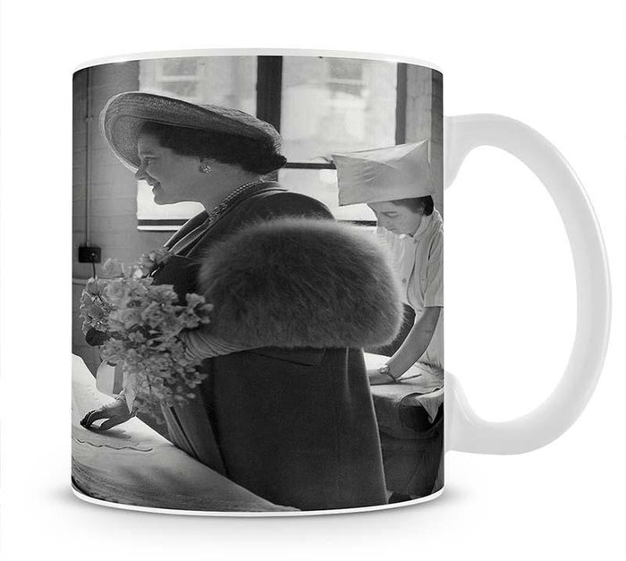 The Queen Mother at a training college Mug