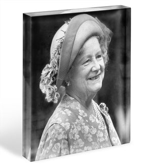 The Queen Mother at the Epsom Derby Acrylic Block - Canvas Art Rocks - 1