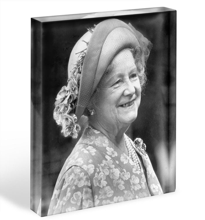 The Queen Mother at the Epsom Derby Acrylic Block