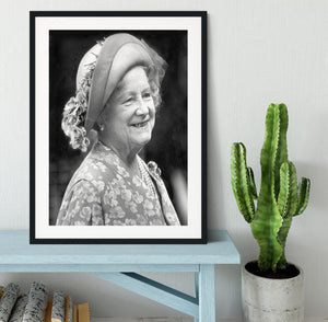 The Queen Mother at the Epsom Derby Framed Print - Canvas Art Rocks - 1