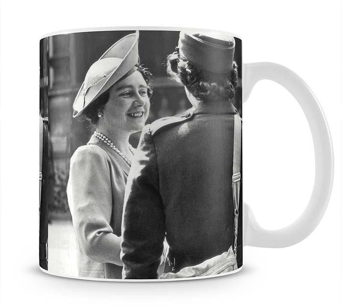 The Queen Mother inspecting WW2 service members Mug