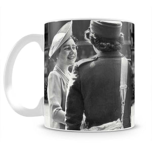 The Queen Mother inspecting WW2 service members Mug - Canvas Art Rocks - 2
