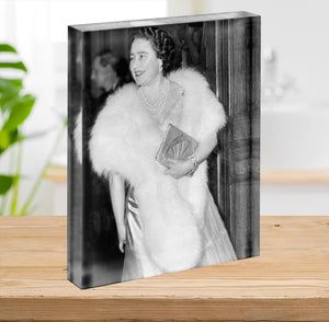 The Queen Mother on a night out at the Coliseum Acrylic Block - Canvas Art Rocks - 2