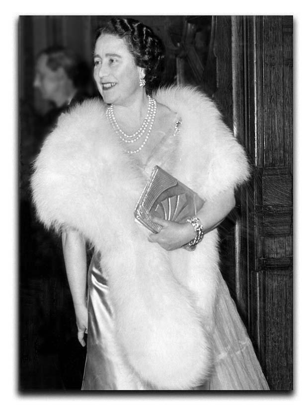 The Queen Mother on a night out at the Coliseum Canvas Print or Poster  - Canvas Art Rocks - 1