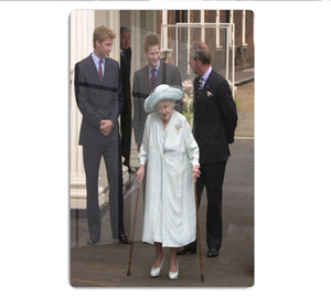 The Queen Mother on her 101st Birthday with family HD Metal Print