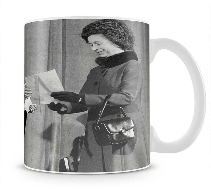 The Queen Mother receiving Honorary Doctorate by the Queen Mug