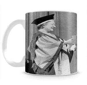 The Queen Mother receiving Honorary Doctorate by the Queen Mug - Canvas Art Rocks - 2