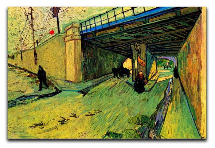 The Railway Bridge over Avenue Montmajour Arles by Van Gogh Canvas Print or Poster