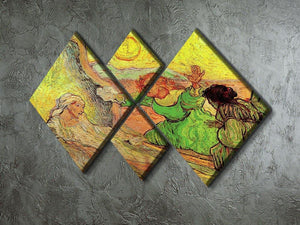 The Raising of Lazarus after Rembrandt by Van Gogh 4 Square Multi Panel Canvas - Canvas Art Rocks - 2