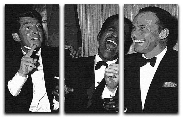 The Rat Pack Rocking With Laughter 3 Split Canvas Print