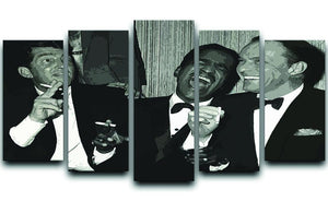 The Rat Pack Rocking With Laughter 5 Split Panel Canvas  - Canvas Art Rocks - 1