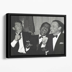 The Rat Pack Rocking With Laughter Floating Framed Canvas