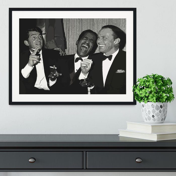 The Rat Pack Rocking With Laughter Framed Print
