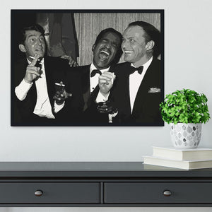 The Rat Pack Rocking With Laughter Framed Print - Canvas Art Rocks - 2