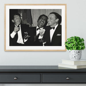The Rat Pack Rocking With Laughter Framed Print - Canvas Art Rocks - 3