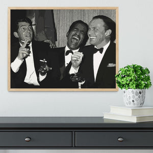 The Rat Pack Rocking With Laughter Framed Print - Canvas Art Rocks - 4