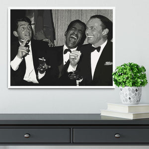 The Rat Pack Rocking With Laughter Framed Print - Canvas Art Rocks -6