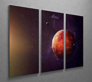 The Red Planet Mars 3 Split Panel Canvas Print - Canvas Art Rocks - 2