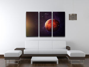 The Red Planet Mars 3 Split Panel Canvas Print - Canvas Art Rocks - 3