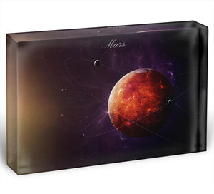 The Red Planet Mars Acrylic Block - Canvas Art Rocks - 1