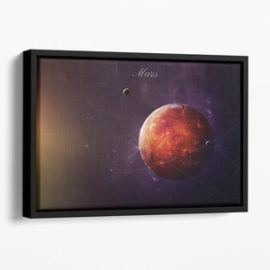 The Red Planet Mars Floating Framed Canvas