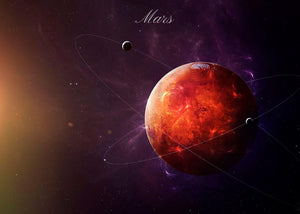 The Red Planet Mars Wall Mural Wallpaper - Canvas Art Rocks - 1