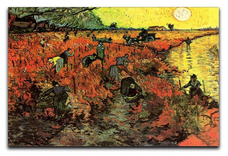 The Red Vineyard by Van Gogh Canvas Print & Poster  - Canvas Art Rocks - 1